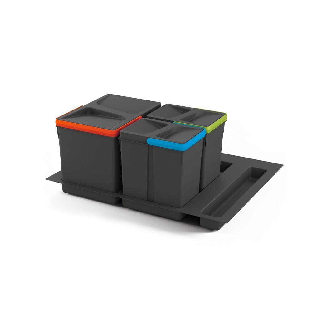 Kit de poubelles à base pour tiroir de meuble 600 mm 12 L, 6 L, 6L