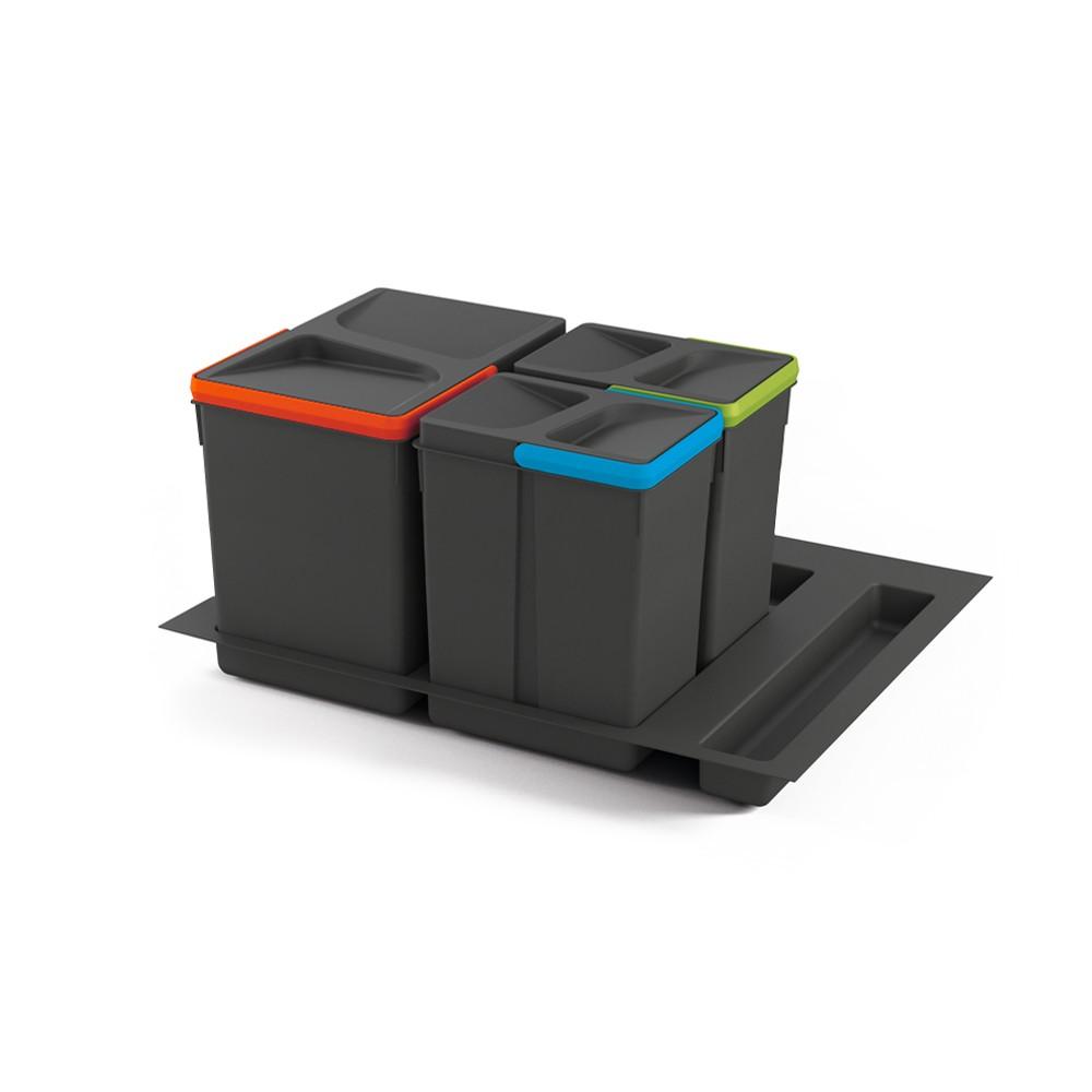 Kit de poubelles à base pour tiroir de meuble 600 mm 15 L, 7 L, 7L